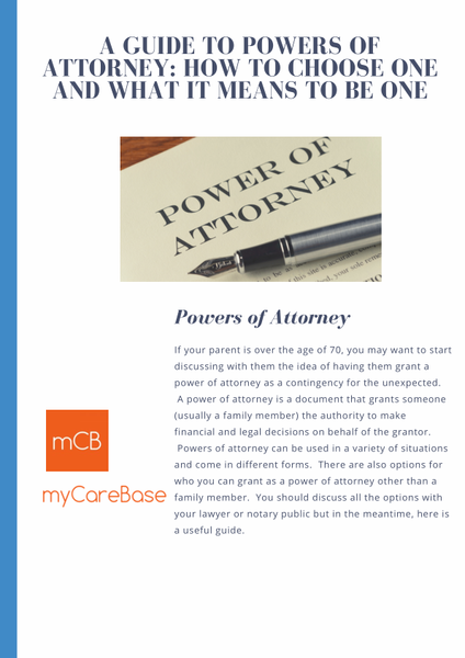 A Guide to Powers of Attorney